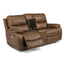 Hendrix Power Reclining Loveseat with Console & Power Headrests