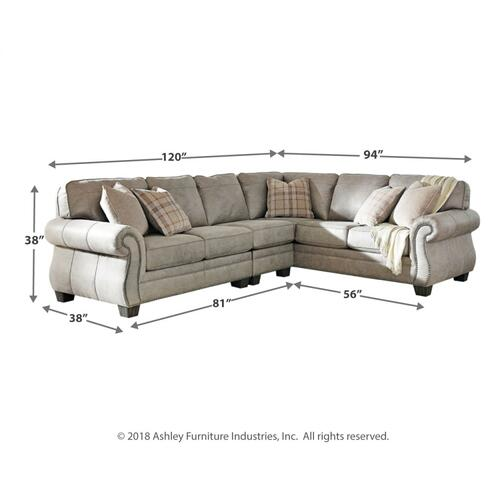 Olsberg 3 Pc. Sectional Steel