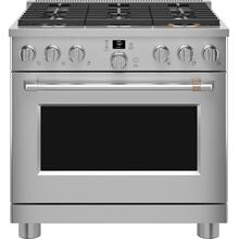 """Café™ 36"""" Smart All-Gas Commercial-Style Range with 6 Burners (Natural Gas)"""