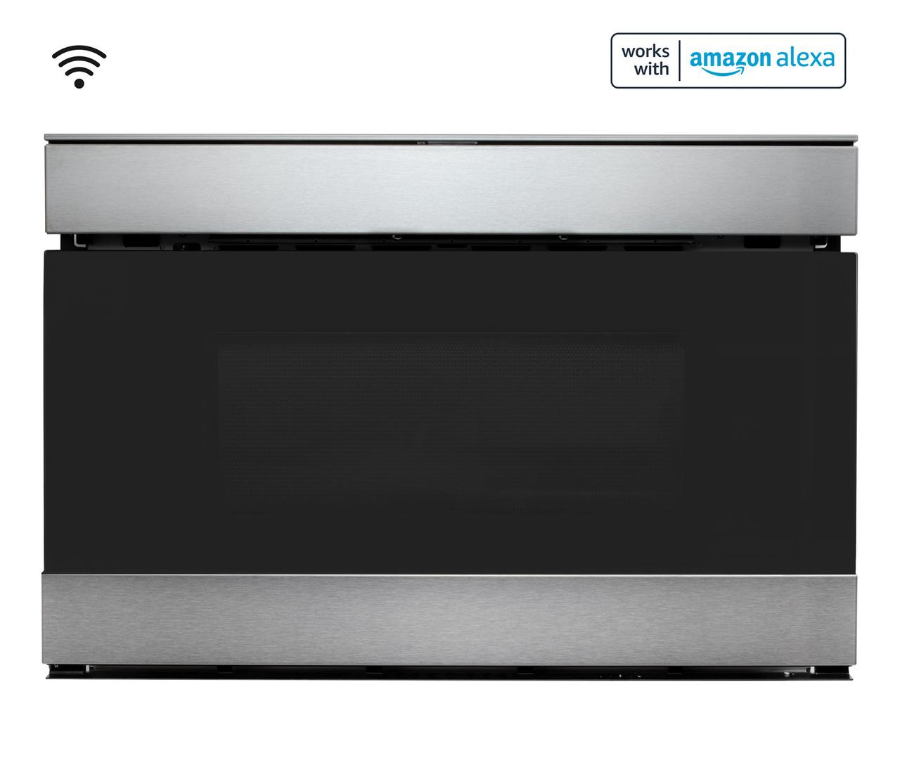 Sharp24 In. 1.2 Cu. Ft. 950w Sharp Stainless Steel Smart Easy Wave Open Microwave Drawer Oven