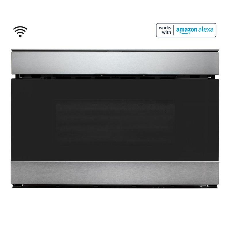 24 in. 1.2 cu. ft. 950W Sharp Stainless Steel Smart Easy Wave Open Microwave Drawer Oven