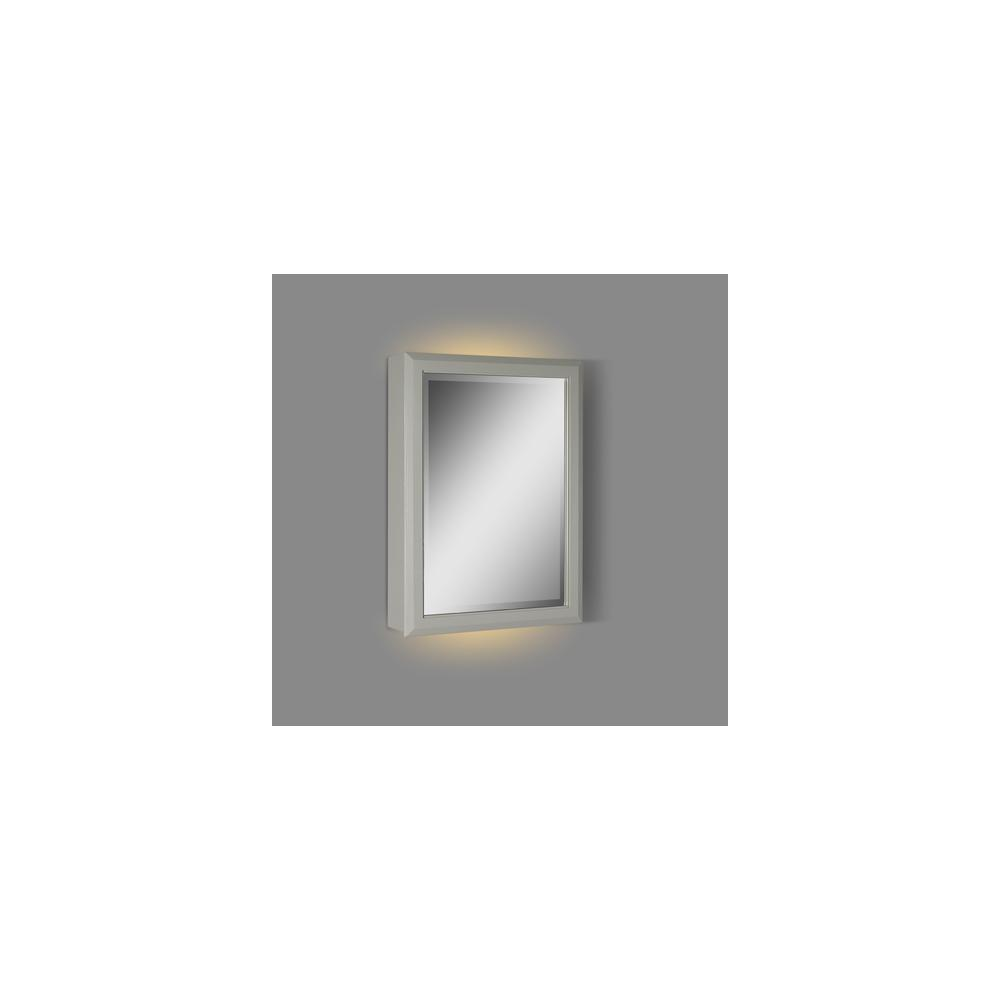 "Charlottesville 20"" LED Medicine Cabinet - right - Light Gray"