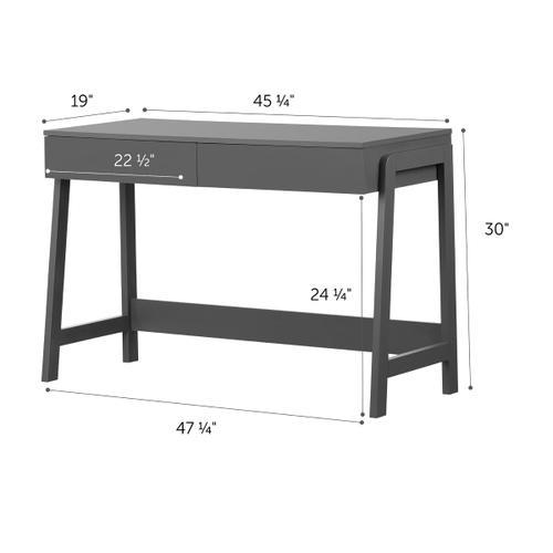 Liney - Secretary Desk, Matte Charcoal