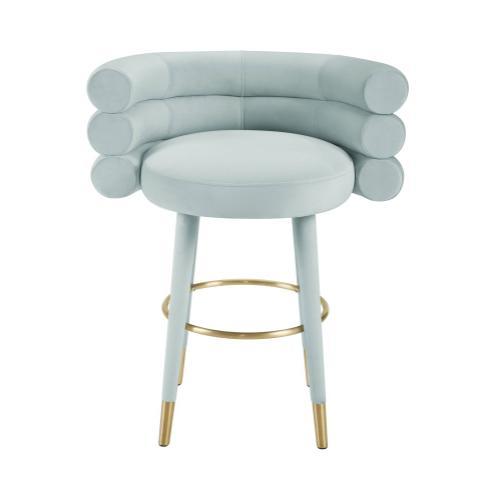 Tov Furniture - Betty Mint Green Velvet Counter Stool
