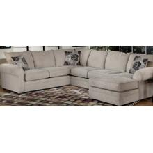 View Product - 9900 Sectional - RSF Chaise, LAF Sofa, Armless Love - Chocolate
