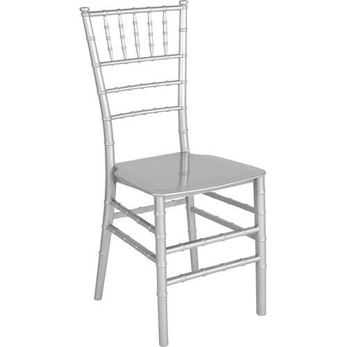 Flash Furniture - HERCULES Series Silver Resin Stacking Chiavari Chair