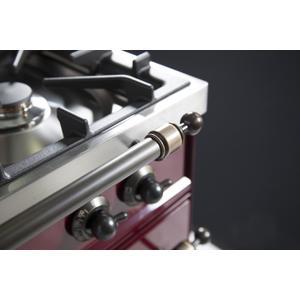24 Inch Burgundy Dual Fuel Liquid Propane Freestanding Range