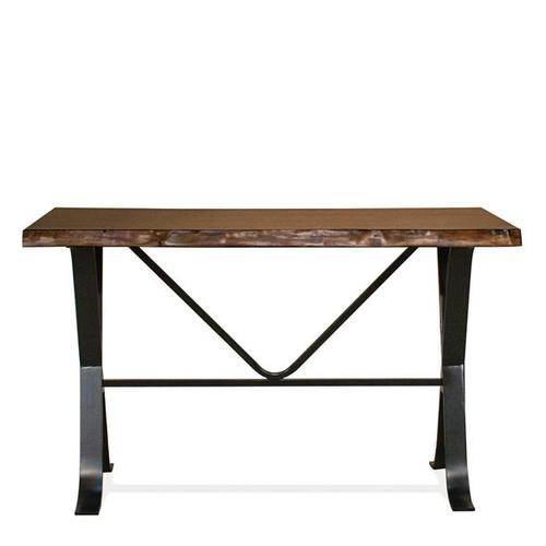 Boulder Sofa Table Burnt Hickory finish