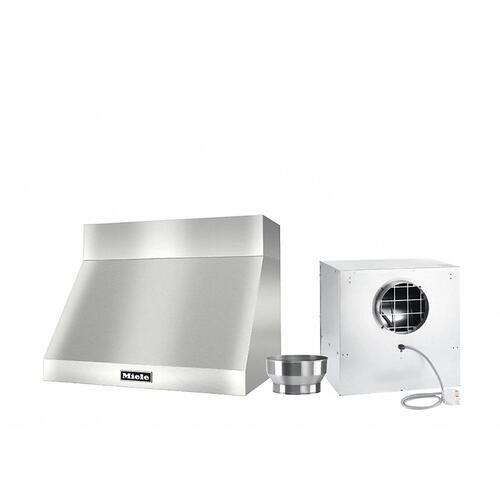 """DAR 1220 Set 10 Wall-Mounted Range Hood with Extraction Mode with external XL motor including 6"""" chimney cover."""