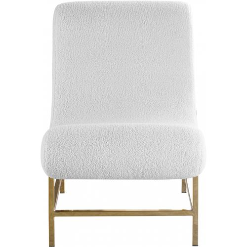 "Nube Faux Sheepskin Fur Accent Chair - 22.5"" W x 34"" D x 33"" H"