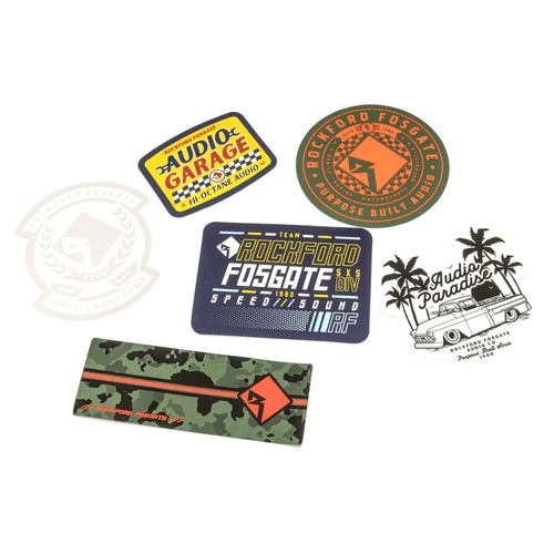Sticker Pack w/ Assorted Sizes and Designs (6 Pack)