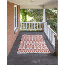 Terracotta Ikat Indoor/Outdoor 5' x 8' Rug
