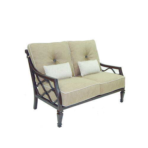 Villa Bianca High Back Cushioned Loveseat