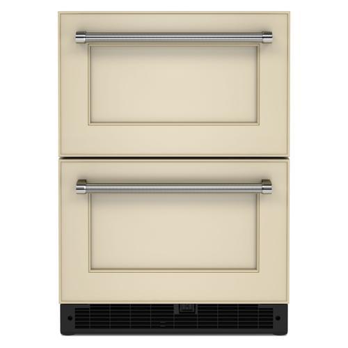 "KitchenAid - 24"" Panel-Ready Undercounter Double-Drawer Refrigerator - Panel Ready PA"