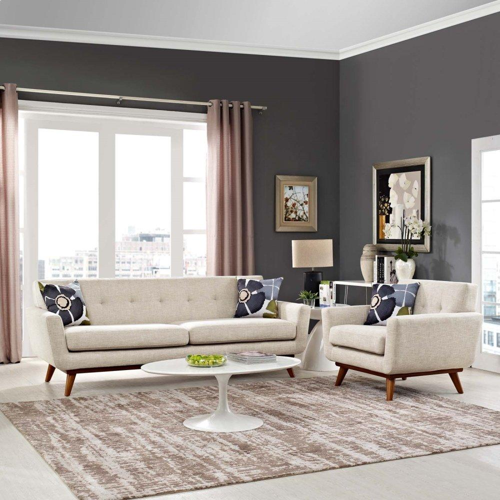 Engage Armchair and Sofa Set of 2 in Beige