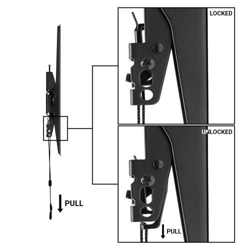 BRKT TLT3260MAX-LVL Medium Single Rail Tilt Flat Panel Mount