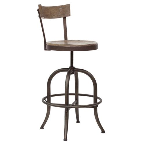 Traditional Solid Barstool with Adjustable Base
