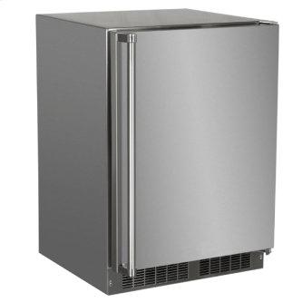 24-In Outdoor Built-In Refrigerator With Door Storage And Maxstore Bin with Door Style - Stainless Steel, Door Swing - Right