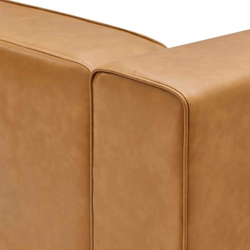 Modway - Mingle Vegan Leather Left-Arm Chair in Tan