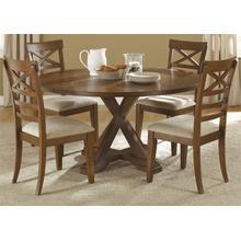 View Product - Opt 5 Piece Pedestal Table Set