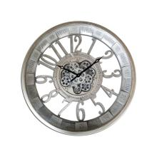See Details - Pewter Round Gear Clock