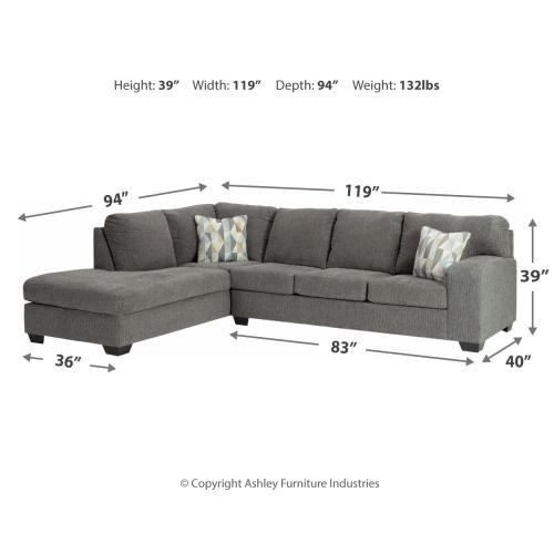 Dalhart 2-piece Sectional With Chaise