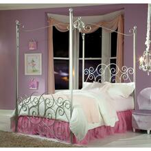 4/6 Silver Canopy Bed