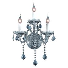 7853 Verona Collection Wall Sconce D:14in H:20in E:8.5in Lt:3 Silver Shade Finish