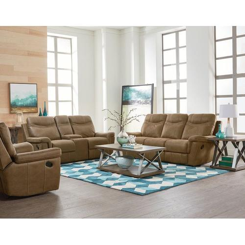 Boardwalk Manual Motion Reclining Loveseat, Brown
