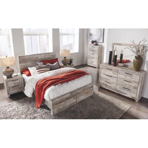 Effie Queen Panel Bed With 2 Storage Drawers