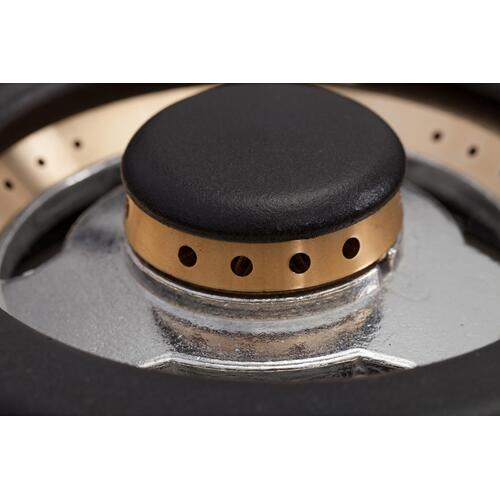 Professional Plus 36 Inch Dual Fuel Liquid Propane Freestanding Range in Matte Graphite with Chrome Trim