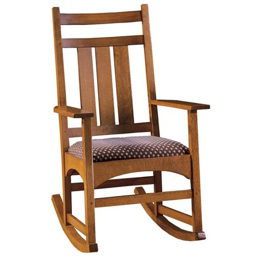 Stickley Furniture - Oak Harvey Ellis Rocker, No Inlay