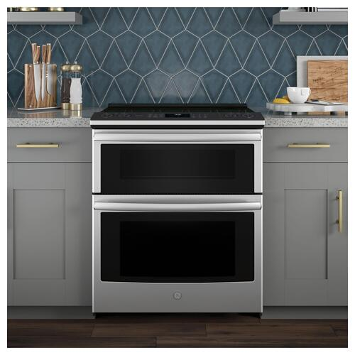 "Red Hot Buy- Be Happy! GE Profile™ 30"" Smart Slide-In Electric Double Oven Convection Range"