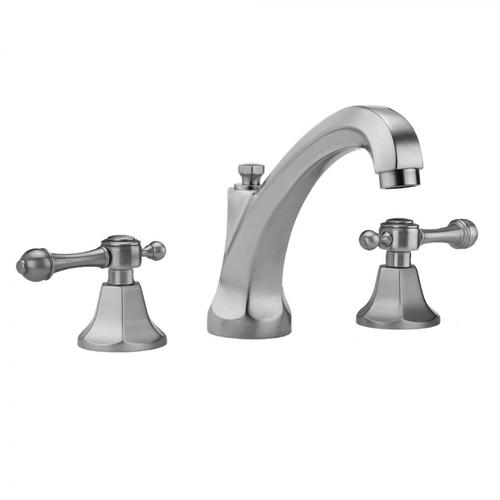 Jaclo - Polished Chrome - Astor High Profile Faucet with Majesty Lever Handles & Fully Polished & Plated Pop-Up Drain