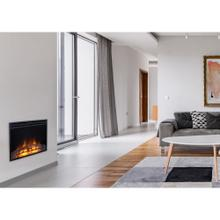 See Details - Cambridge 25-In. Freestanding 5116 BTU Electric Fireplace Insert with Remote Control, CAM25INS-1BLK