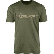 See Details - Louisiana Grills Men's Military Heather Script Logo T-Shirt