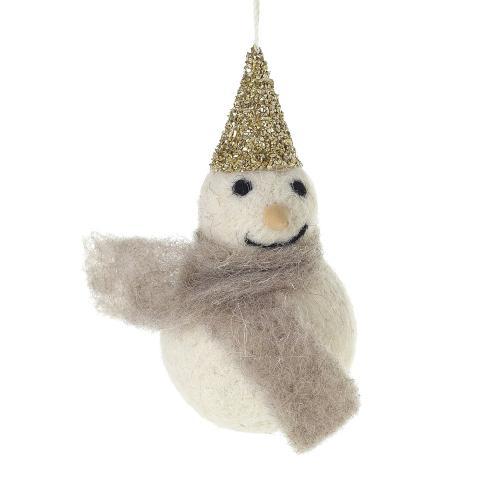 """2.25"""" x 4"""" Felt Frosty (Ornament Option)"""