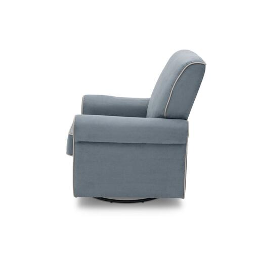 Rowen Upholstered Glider - Frozen Blue with Cream (499)