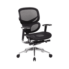 Adjustable Office Chair with Synchro Mechanism Control - Black