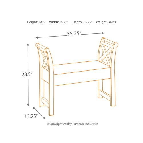 Signature Design By Ashley - Abbonto Accent Bench