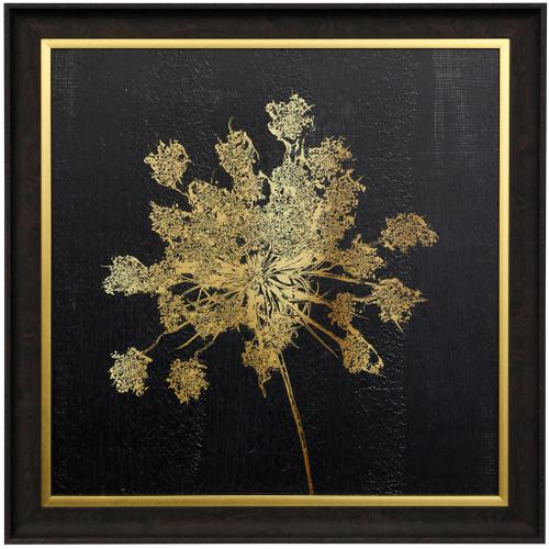 Style Craft - LADY GOLD I  29 X 29  Made in USA  Textured Framed Print