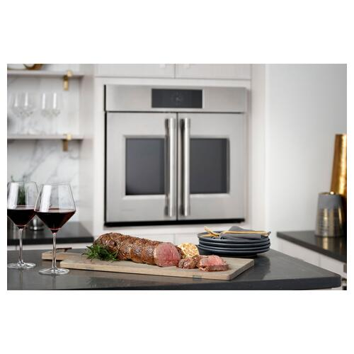 "Monogram 30"" Smart French-Door Electric Convection Double Wall Oven Statement Collection"