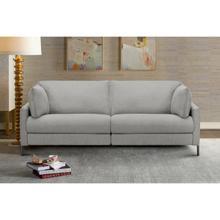 """See Details - Juliett 80"""" Modern Grey Fabric Power Reclining Sofa"""