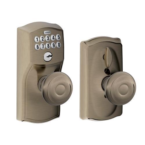 Schlage - Camelot Style Keypad Georgian Knob with Flex Lock