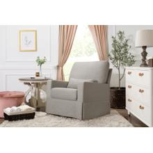 See Details - Performance Grey Eco-Weave Crawford Pillowback Comfort Swivel Glider -