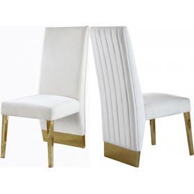 "Porsha Velvet Dining Chair - 19.5"" W x 27"" D x 42"" H"