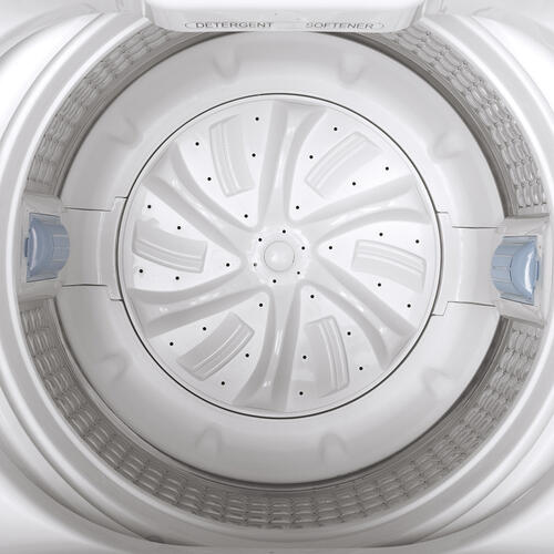 GE® Space-Saving 3.3 IEC Cu. Ft. Capacity Portable Washer with Stainless Steel Basket White - GNW128PSMWW
