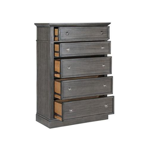 Amberleigh 5-Drawer Chest, Grey