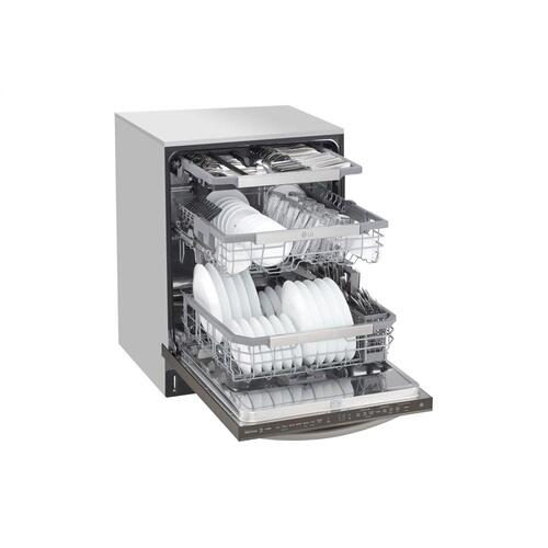 Product Image - Top Control Smart wi-fi Enabled Dishwasher with QuadWash™ and TrueSteam®