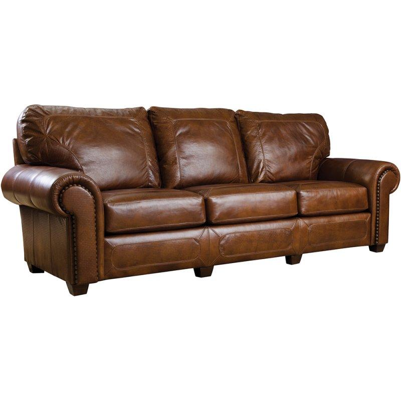 74 Loveseat, Leather Santa Fe Sofa